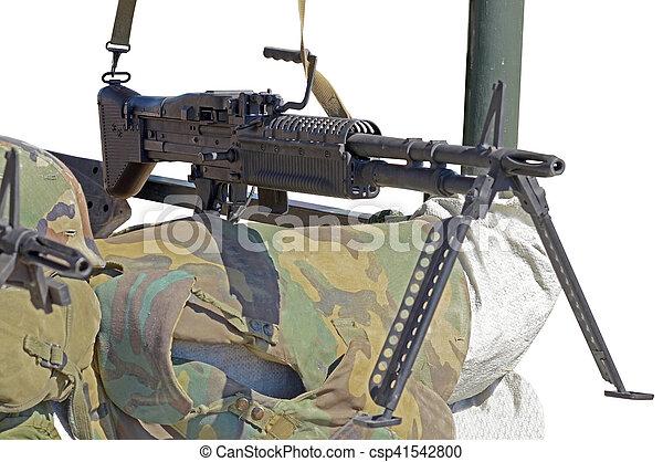 m60 machine gun on position