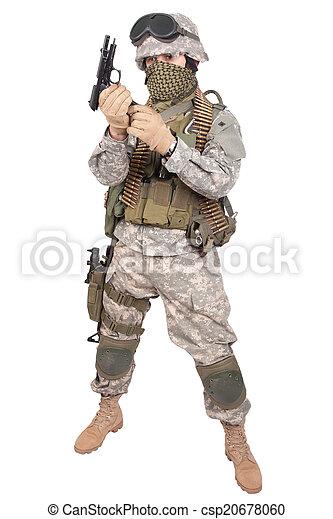 m92, bennünket, katona, háttér, fehér, kézifegyver - csp20678060