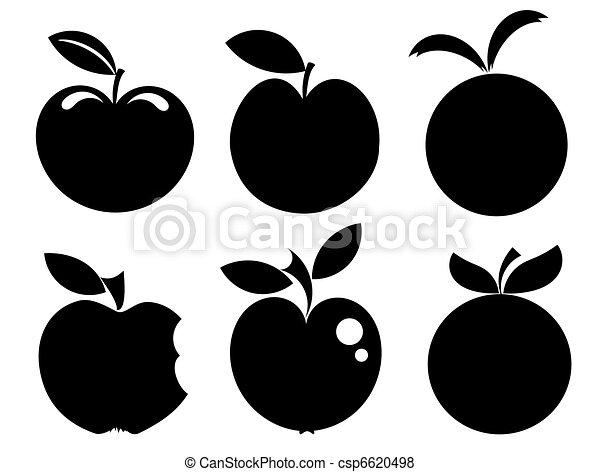 maçã, ícones - csp6620498