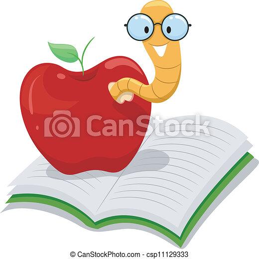 maçã, bookworm - csp11129333