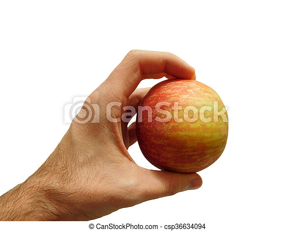 maçã, mão - csp36634094