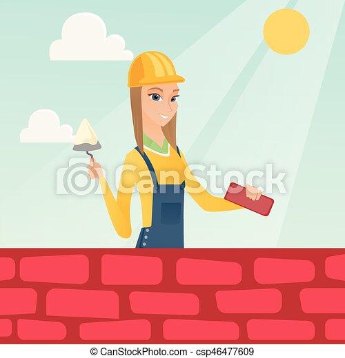 maçon, spatule, brick., fonctionnement - csp46477609