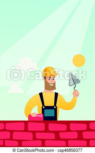 maçon, spatule, brick., fonctionnement - csp46856377