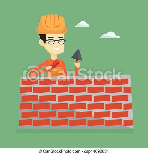 maçon, spatule, brick., fonctionnement - csp44692631