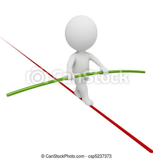 mały, 3d, -, akrobata, ludzie - csp5237373