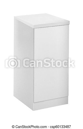 mały, biały, odizolowany, chłodnia - csp60133487