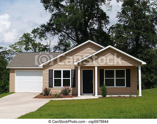 mały, mieszkaniowy, dom - csp5979944