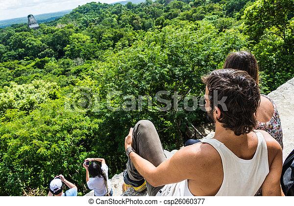 ma, 観光客, 写真を撮る, rainforest, 楽しむ, 光景 - csp26060377