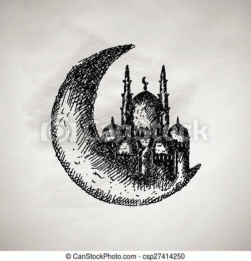 maan, pictogram - csp27414250