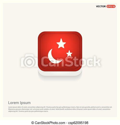 maan, ster, pictogram - csp62095198