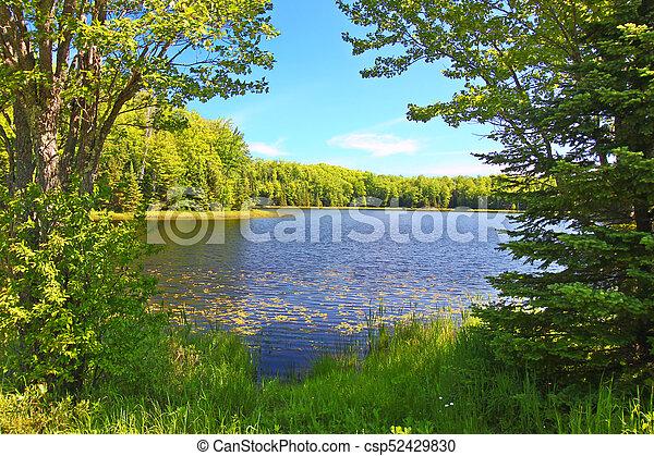 Mabel Lake Northwoods Wisconsin - csp52429830