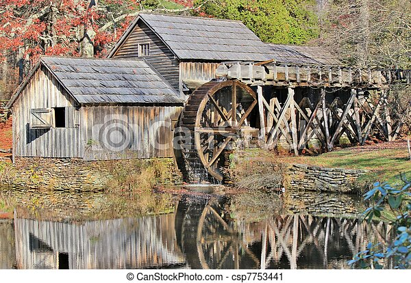 Mabry Mill Reflection - csp7753441