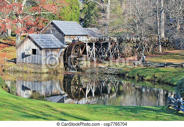 Mabry Mill Reflection - csp7765704