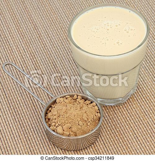 Maca Powder and Drink - csp34211849