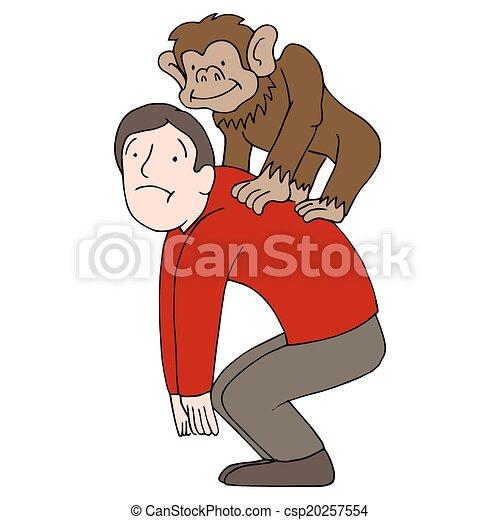 macaco, costas - csp20257554