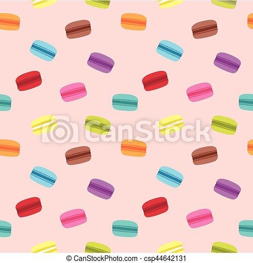 macaron, cor-de-rosa, padrão - csp44642131