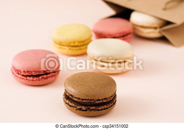 Macarons out of a bag - csp34151002