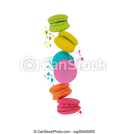 Macaroons. Sweet and colorful macaroons. - csp50445000