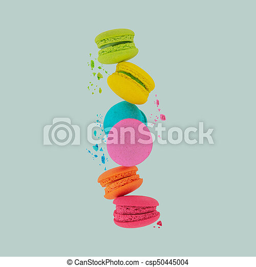 Macaroons. Sweet and colorful macaroons. - csp50445004