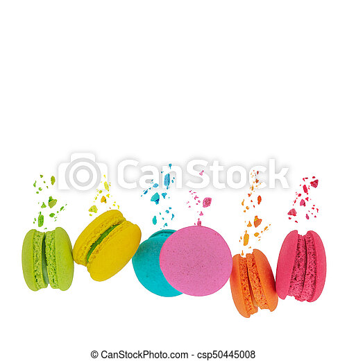Macaroons. Sweet and colorful macaroons. - csp50445008
