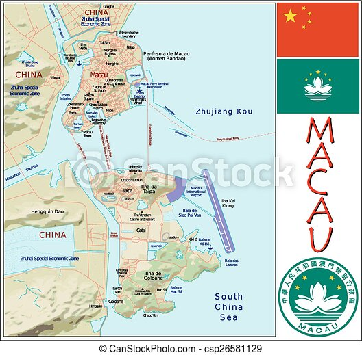 Macau administrative divisions Administrative divisions map