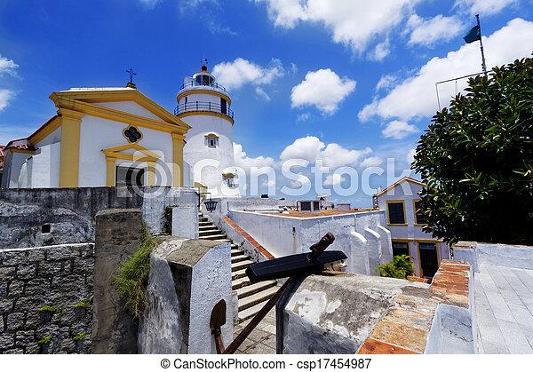 macau famous landmark, lighthouse - csp17454987