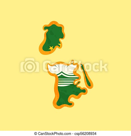 Macau - Map colored with Macanese flag - csp56208934