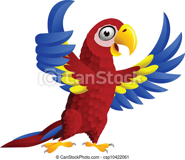 Macaw bird with thumb up - csp10422061