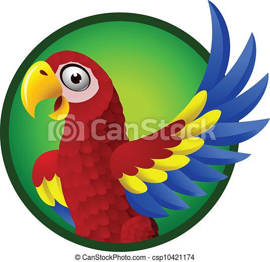 macaw, personagem, caricatura - csp10421174