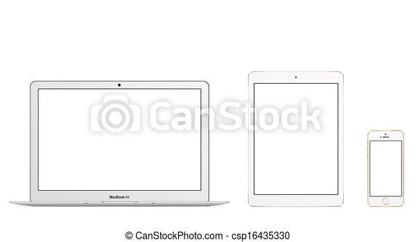 MacBook Air Ipad Air Iphone 5s - csp16435330