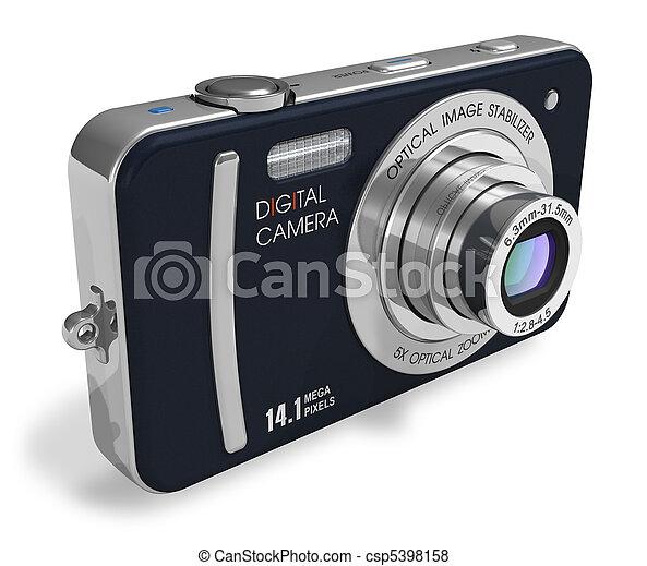 macchina fotografica compatta, digitale - csp5398158