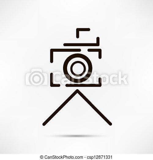macchina fotografica, disegno - csp12871331