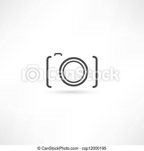 macchina fotografica, icona - csp12000195