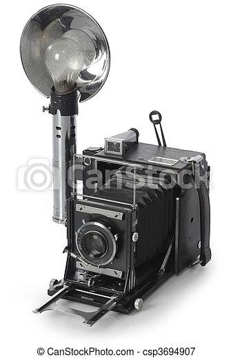 macchina fotografica, retro - csp3694907