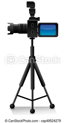 macchina fotografica, treppiede - csp49524279