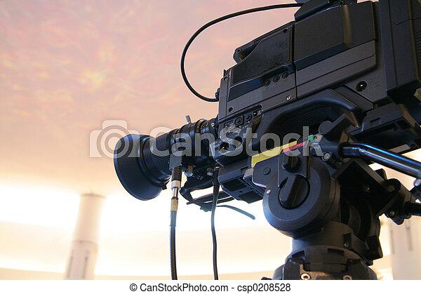 macchina fotografica tv, video - csp0208528