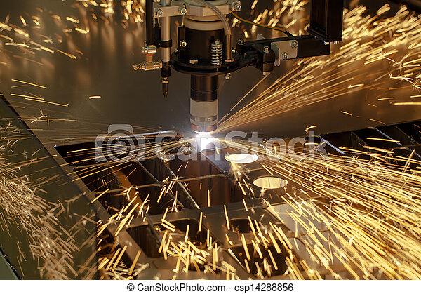 macchina, industria, taglio, plasma, lavoro metallurgico - csp14288856