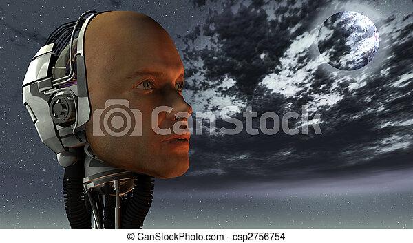 macchina, intelligenza, androide, cibernetico - csp2756754