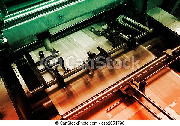macchina, stampa, compensazione - csp2054796