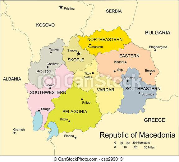Macedonia administrative districts capitals and surrounding macedonia administrative districts capitals and surrounding countries csp2930131 publicscrutiny Choice Image