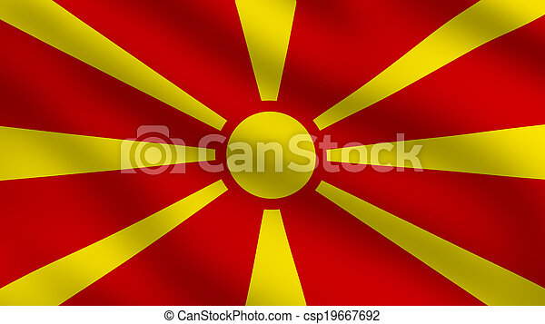 Macedonia Flag - csp19667692