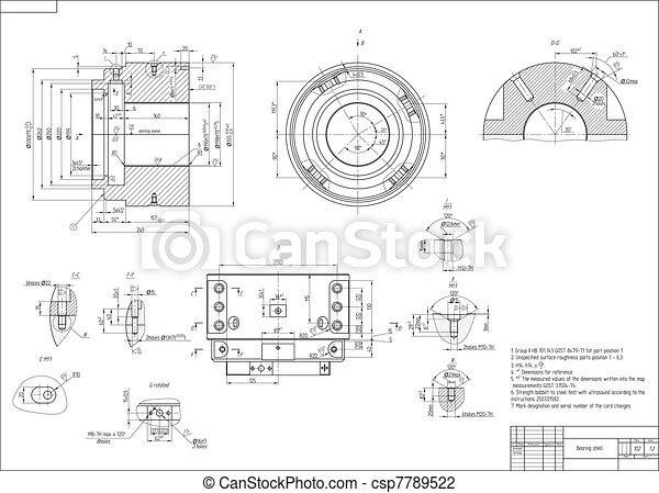 machine-building, desenho - csp7789522