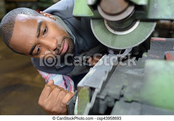 machine, cassé, inspection - csp43958693
