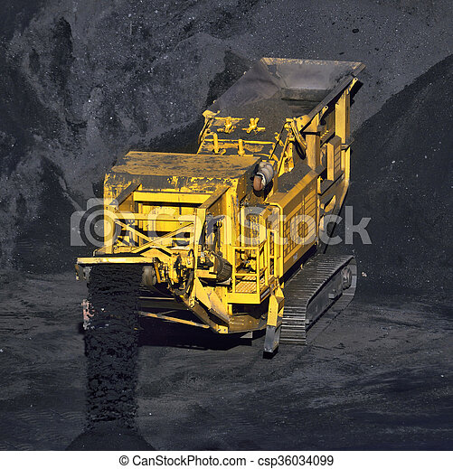 machine, charbon, transport - csp36034099