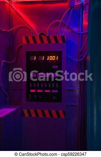 machine, concept, temps - csp59226347