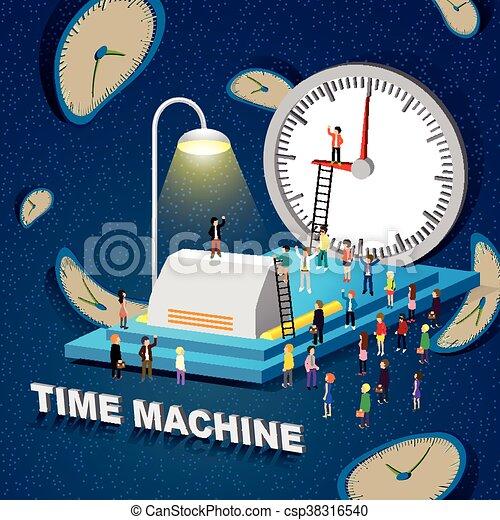 machine, concept, temps - csp38316540