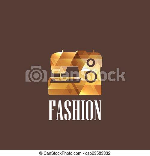 machine, diamant, illustration, couture - csp23583332