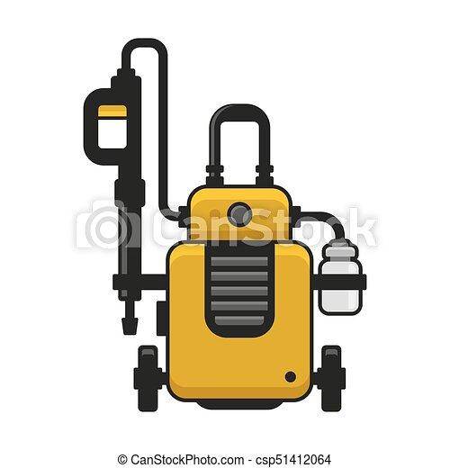Machine., druck, auto, hoch, waschen, vektor, washer.... Clipart ...