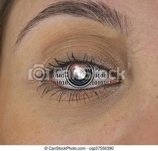 Machine Eye - csp37556390