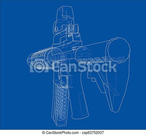Machine Gun  3d illustration